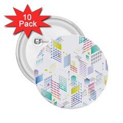 Layer Capital City Building 2 25  Buttons (10 Pack)