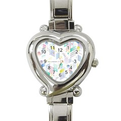 Layer Capital City Building Heart Italian Charm Watch