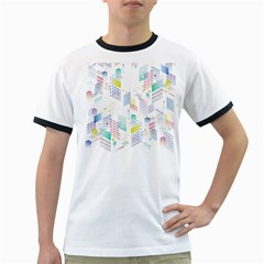 Layer Capital City Building Ringer T Shirts