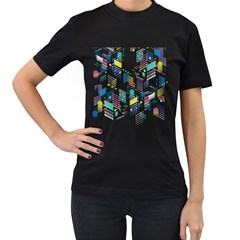 Layer Capital City Building Women s T Shirt (black) (two Sided)
