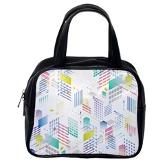 Layer Capital City Building Classic Handbags (one Side)