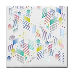 Layer Capital City Building Face Towel