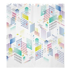 Layer Capital City Building Shower Curtain 66  X 72  (large)