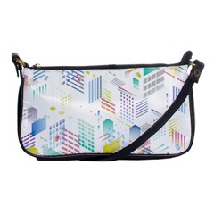 Layer Capital City Building Shoulder Clutch Bags