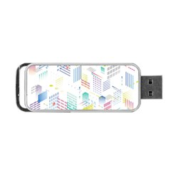 Layer Capital City Building Portable Usb Flash (one Side)