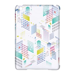 Layer Capital City Building Apple Ipad Mini Hardshell Case (compatible With Smart Cover)