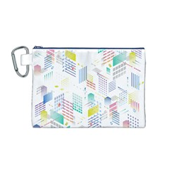 Layer Capital City Building Canvas Cosmetic Bag (m)