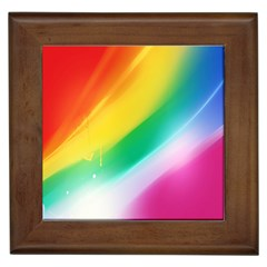 Red Yellow White Pink Green Blue Rainbow Color Mix Framed Tiles