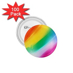 Red Yellow White Pink Green Blue Rainbow Color Mix 1 75  Buttons (100 Pack)