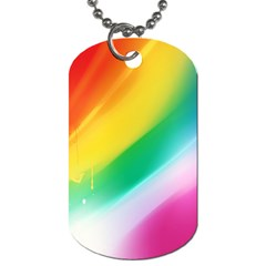 Red Yellow White Pink Green Blue Rainbow Color Mix Dog Tag (two Sides)