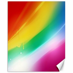 Red Yellow White Pink Green Blue Rainbow Color Mix Canvas 16  X 20
