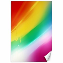 Red Yellow White Pink Green Blue Rainbow Color Mix Canvas 24  X 36