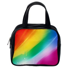 Red Yellow White Pink Green Blue Rainbow Color Mix Classic Handbags (one Side)