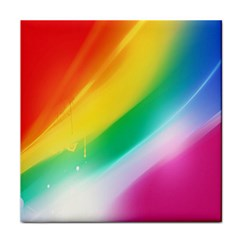 Red Yellow White Pink Green Blue Rainbow Color Mix Face Towel
