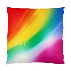 Red Yellow White Pink Green Blue Rainbow Color Mix Standard Cushion Case (one Side)
