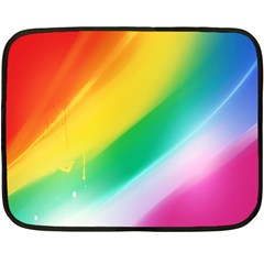 Red Yellow White Pink Green Blue Rainbow Color Mix Double Sided Fleece Blanket (mini)