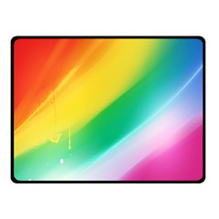 Red Yellow White Pink Green Blue Rainbow Color Mix Fleece Blanket (small)