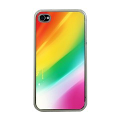 Red Yellow White Pink Green Blue Rainbow Color Mix Apple Iphone 4 Case (clear)