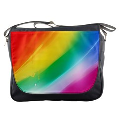 Red Yellow White Pink Green Blue Rainbow Color Mix Messenger Bags