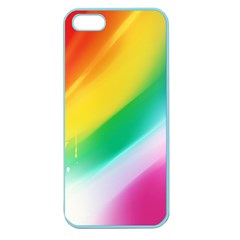 Red Yellow White Pink Green Blue Rainbow Color Mix Apple Seamless Iphone 5 Case (color)