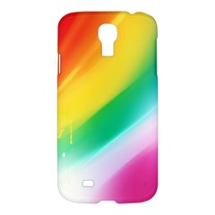 Red Yellow White Pink Green Blue Rainbow Color Mix Samsung Galaxy S4 I9500/i9505 Hardshell Case