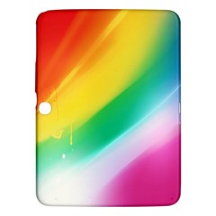 Red Yellow White Pink Green Blue Rainbow Color Mix Samsung Galaxy Tab 3 (10 1 ) P5200 Hardshell Case