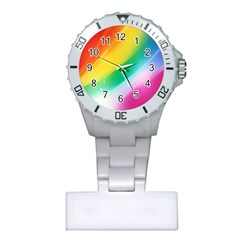 Red Yellow White Pink Green Blue Rainbow Color Mix Plastic Nurses Watch