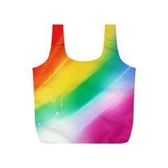 Red Yellow White Pink Green Blue Rainbow Color Mix Full Print Recycle Bags (s)
