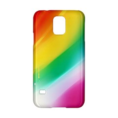 Red Yellow White Pink Green Blue Rainbow Color Mix Samsung Galaxy S5 Hardshell Case