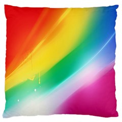 Red Yellow White Pink Green Blue Rainbow Color Mix Standard Flano Cushion Case (one Side)