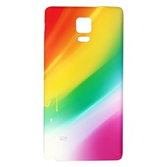 Red Yellow White Pink Green Blue Rainbow Color Mix Galaxy Note 4 Back Case