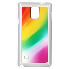 Red Yellow White Pink Green Blue Rainbow Color Mix Samsung Galaxy Note 4 Case (white)