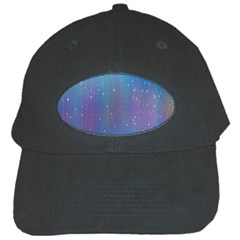 Rain Star Planet Galaxy Blue Sky Purple Blue Black Cap