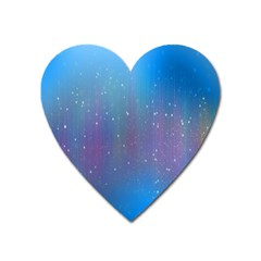 Rain Star Planet Galaxy Blue Sky Purple Blue Heart Magnet