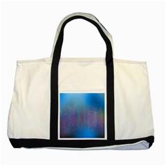 Rain Star Planet Galaxy Blue Sky Purple Blue Two Tone Tote Bag