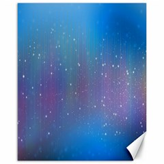 Rain Star Planet Galaxy Blue Sky Purple Blue Canvas 16  X 20