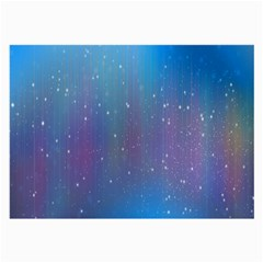Rain Star Planet Galaxy Blue Sky Purple Blue Large Glasses Cloth (2 Side)