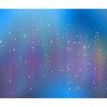 Rain Star Planet Galaxy Blue Sky Purple Blue Deluxe Canvas 14  x 11  14  x 11  x 1.5  Stretched Canvas