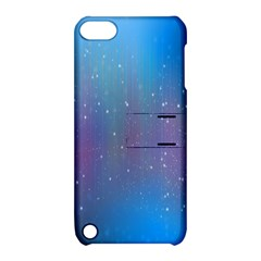 Rain Star Planet Galaxy Blue Sky Purple Blue Apple Ipod Touch 5 Hardshell Case With Stand