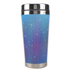 Rain Star Planet Galaxy Blue Sky Purple Blue Stainless Steel Travel Tumblers