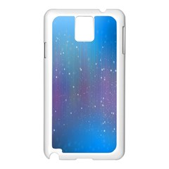 Rain Star Planet Galaxy Blue Sky Purple Blue Samsung Galaxy Note 3 N9005 Case (white)