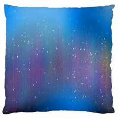 Rain Star Planet Galaxy Blue Sky Purple Blue Large Flano Cushion Case (two Sides)