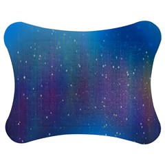 Rain Star Planet Galaxy Blue Sky Purple Blue Jigsaw Puzzle Photo Stand (bow)
