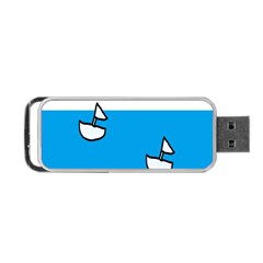 Ship Sea Beack Sun Blue Sky White Water Portable Usb Flash (two Sides)