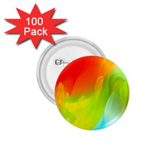 Red Yellow Green Blue Rainbow Color Mix 1 75  Buttons (100 Pack)