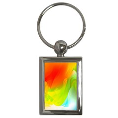 Red Yellow Green Blue Rainbow Color Mix Key Chains (rectangle)