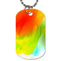 Red Yellow Green Blue Rainbow Color Mix Dog Tag (one Side)