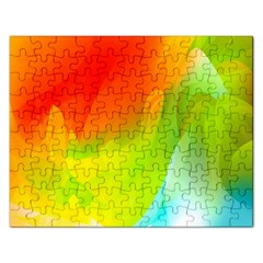 Red Yellow Green Blue Rainbow Color Mix Rectangular Jigsaw Puzzl