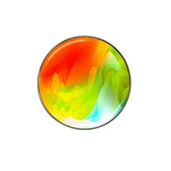Red Yellow Green Blue Rainbow Color Mix Hat Clip Ball Marker (10 Pack)