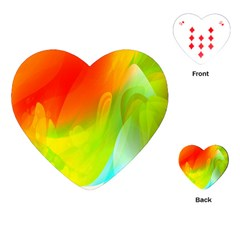 Red Yellow Green Blue Rainbow Color Mix Playing Cards (heart)